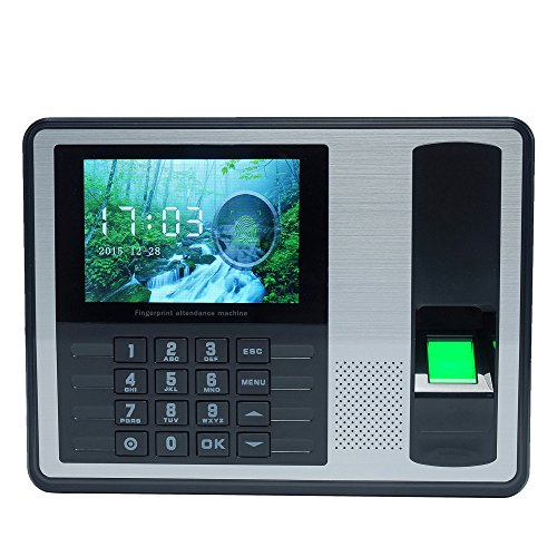 kkmoon DC 5 V Selbstbedienung ohne Software Maschine Intelligente Biometrisches des POINTAGE Personal, 4 Zoll TFT LCD Display