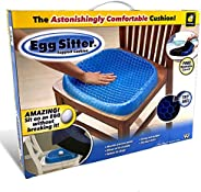 Egg Sitter Seat Cushion With Non-Slip Cover Breathable Honeycomb Design Absorbs Pressure Points, Blue/Black, W