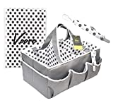 Newborn Baby Nappy Caddy Organiser - Voore. Unisex, Multifunction, Portable, Wipeable. Large Diaper