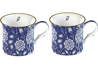 Creative Tops 2-Piece Fine Bone China V&A William Morris Wild Tulip Mugs - Blue