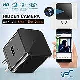 Caméra Espion,1080P USB Chargeur Caméra de Surveillance Mini Caméra Cachée de Vision Nocturne WiFi Nanny Caméra Détection de Mouvement Surveillance en Temps réel à la Maison ou au Bureau