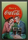 (2x3) Coca Cola, Vintage, Retro, Junges Paar Locker Kühlschrank-Magnet