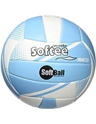 Ballon volley Softball 2.0Bleu/blanc