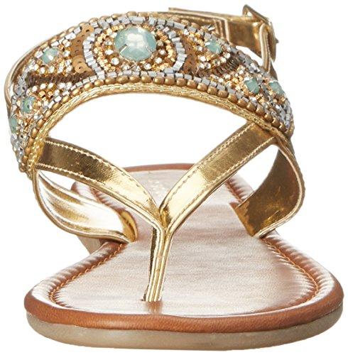 Madden Girl Raive Thong Sandal Gold/Multi