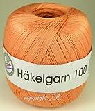 Häkelgarn 100 Gramm Baumwolle-Filet-Garn häkeln - Farbe aprikose_119