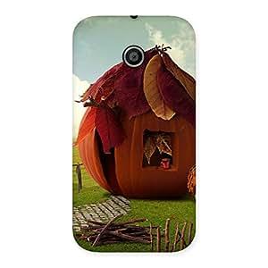 Delighted Cutest Hut Print Back Case Cover for Moto E