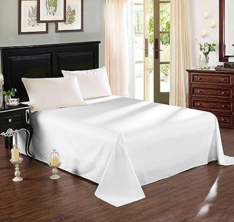WOLTU BW5003ws Tagesdecke Bettüberwurf Sofaüberwurf , Betttuch Bettlaken ohne Gummizug , Decken Überwurf Plaid , 100% Baumwolle , 240x250 cm ,