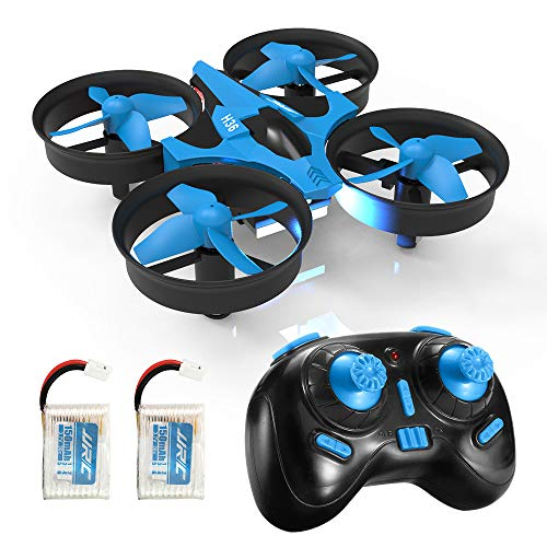 REDPAWZ H36 Mini RC Drone Mini UFO 2 Batteries 2.4G 4 Channels 6 Axle Mode Quadcopter with Return Mode and without Head-Blue