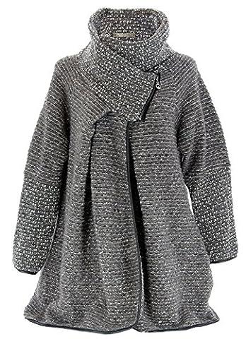 Manteau Laine Bouillie - Charleselie94® - Manteau cape laine bouillie hiver