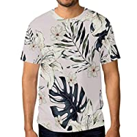 Buyxbn Easter Lily Flowers S T Shirts for Men Graphic Golf Top Funny Printed Designer Male