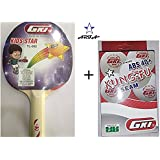Combo - GKI Kids Star TT Bat & Kung Fu Pack Of 6 TT Ball By Aaina ARFA.