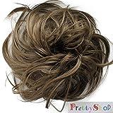 Haargummi Scrunchie Scrunchy Haarband Haarteil Haarverdichtung Zopf ponytail diverse Farbe (hellbraun (Farbton 12)-G8B)