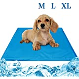 Seekavan Hund Kühlmatte, Selbst Kühlung Gel-Matte Pads Pet für Hunde & Katzen, Haustier Betten Sommer Matte für Haustier (M(50 * 65cm)