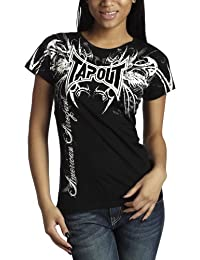 Tapout Damen T-Shirt Darkside Schwarz