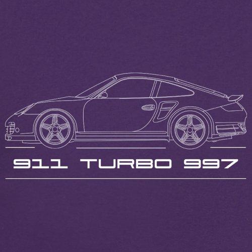 Seitenansicht Porsche 911 Turbo 997 (2006 - 2012) - Unisex Pullover/ Sweatshirt ...