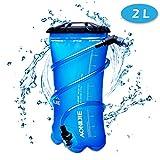 TRIWONDER 1.5-2-3L BPA Free Trinkblase Wasserreservoir für Radfahren Wandern Camping Rucksack (2L / 70oz (TPU))