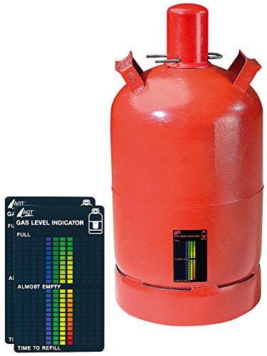 AGT Gasanzeige: 2er-Set Gasstand-Anzeiger für Gasflaschen, 22-stufige Skala (Gasmesser) -