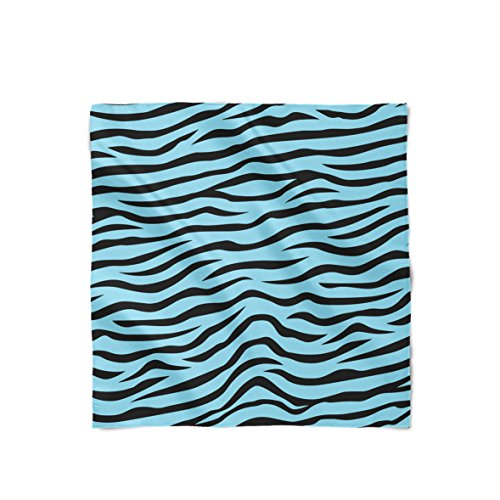 Queen of Cases Zebra Print Blue - Large Square (36x36) - Satin Style Scarf Schal Blue Square Schal