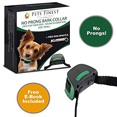 Anti-bell dog collar by Pets Finest, training collar with sound and vibration function by Pets Finest