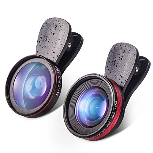 Yarrashop®No Abnormality,HD,2 in 1 iPhone Lens With 15X Macro Lens+0.6X Super Wide...