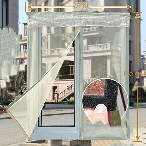 Einfaches sand fenster anti-unsichtbare fliegengitter selbstklebende magnetstreifen magische aufkleber selbstklebende gaze bildschirm fliegengitter-C 100x120cm(39x47inch)