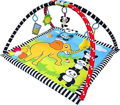 Inside Out Toys - Gimnasio con alfombra de juegos y actividades - Con caja de música - Diseño panda