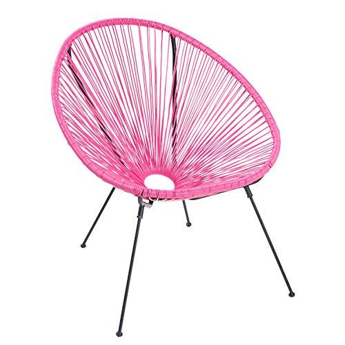 Moderner ACAPULCO Sessel pink Gartenstuhl wetterfest Outdoorstuhl Relaxsessel - Moderner Kunststoff-stuhl