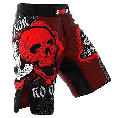 Spodenki MMA SMMASH SKULL RED (L)