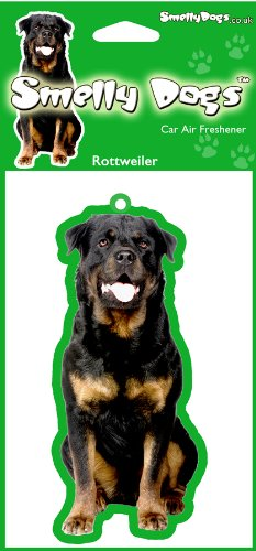 Hund Weihnachten Kragen (Rottweiler Hund Geschenk–2x Delightful KFZ-Lufterfrischer)