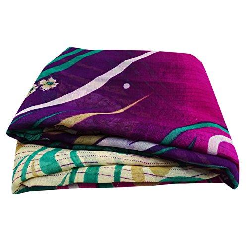 Weinleseart Indisches Sari Gedrucktes Gewebefrauen Beiläufiges Abnutzungsarmbandkleid (Vorhang Sari Drapieren)