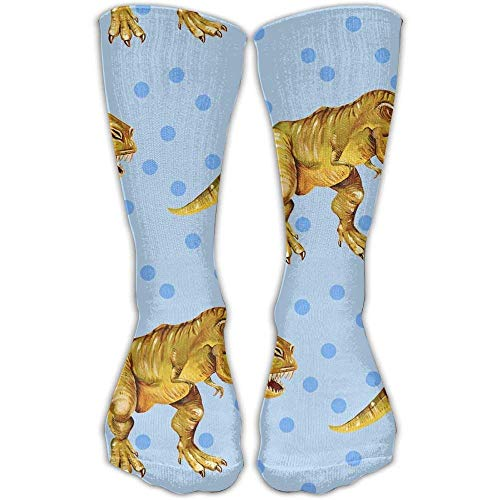 SDFGSE Fashionable Printing Cotton T Rex Sock for Women 60cm