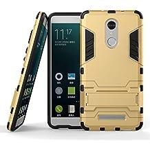 Funda para Xiaomi Redmi Note 3 / Redmi Note 3 Pro (5,5 Pulgadas) 2 en 1 Híbrida Rugged Armor Case Choque Absorción Protección Dual Layer Bumper Carcasa con pata de Cabra (Dorado)