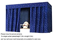 Students Thin Dormitory Bunk Bed Curtain Lightproof Dustproof 50% Light Shading Canopy Spread Blackout Curtains for Single Bed Baby Cabin Bed Mosquito Protection Cloth Tent, Curtain Size 1.2X2.0 CM