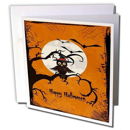 inem Ast mit einem Mond und Fledermäuse–Grußkarte, 15,2x 15,2cm, Single (GC _ 65456_ 5) (Single Zu Halloween)