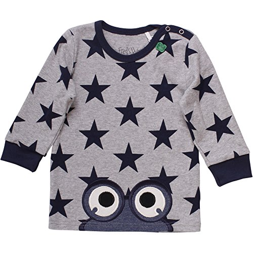 Fred'S World By Green Cotton Star Peep T Baby, T-Shirt Mixte bébé, Gris (Pale Greymarl 207670000), 9 Mois