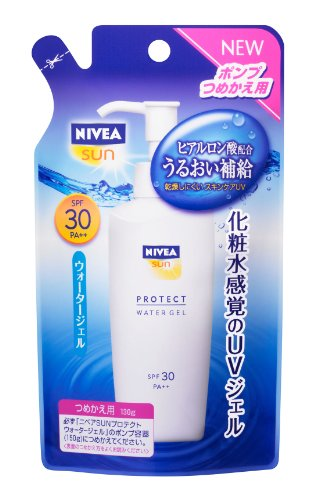 NIVEA SUN Protect Water Gel SPF30 | UV Protection | 130g Refill for Pump Dispenser (japan import)