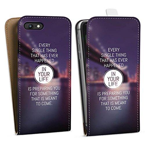 Apple iPhone X Silikon Hülle Case Schutzhülle Weisheit Leben Sprüche Downflip Tasche weiß