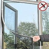 Yosemite Fliegengitter, Insektenschutz, für das Fenster, mit selbstklebendem Band, aus Netzgewebe, 1,3 x 1,5m