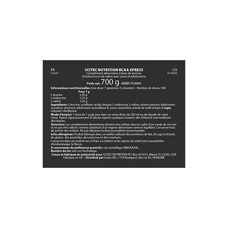 SCITEC Nutrition BCAA Xpress – 700 gr Apple