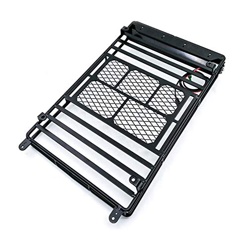 RC Car 1:10 Roof Rack Luggage Carrier for Short-Course Cars Crawler Black