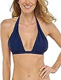 Schiesser Damen Bikinioberteil Bikini Neckholder-Top, Blau (Admiral 801), 38B