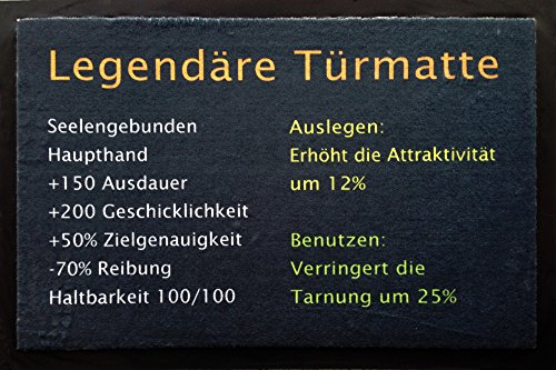 empireposter Legendäre Türmatte - Fußmatte, Größe: 60 x 40 cm, Material Polypropylen