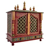 Jodhpur Handicrafts Wooden Temple/ Home Temple/ Pooja Mandir/ Pooja Mandap/ Temple For Home With White Light