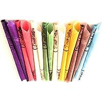 Preisvergleich für 16 Konische Ohrkerzen Ohrenkerzen farbig ZweiohrkerZen, 8 Paar mit Duft, Trichterform konisch