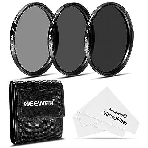 Neewer 52mm Densité Neutre Photographie Filtre Kit (ND2 ND4 ND8) + Chiffon de Nettoyage pour NIKON 18-55mm f/3,5-5,6G ED AF-S DX,55-200mm f/4-5,6G ED IF AF-S DX VR Objectifs,CANON EF-M18-55mm IS STM Objectifs,PENTAX 18-55mm F3,5-5,6AL Objectifs