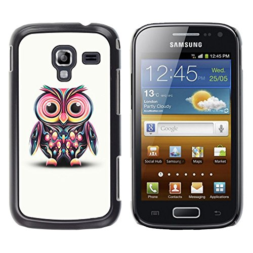 - Owl Pink Eyes Colorful Disco Bird Drawing For Samsung Galaxy Ace 2 Copertura dura Snap On Cell Phone @ Cat Family - Disco Eye