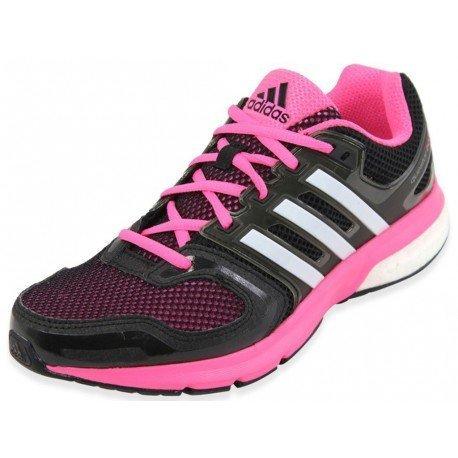 Adidas Running Damen Questar Boost Damen Black1/runwhi/neonpk, Größe Adidas:7