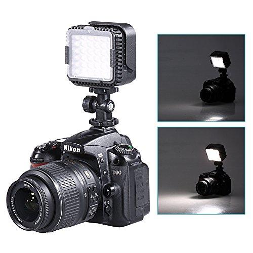 Neewer® CN-LUX360 5600K Ultra-Luminoso 36 Dimmerabile LED fotocamera / Videofotocamera con Filtro Ottico per DV Videofotocamera Canon Nikon Olympus Pentax e Altre Camere DSLR