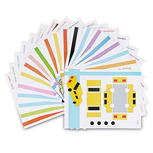 ohCome 20Pcs 3D Papier Modèles pour Enfants Adultes Jeux en Pratique de 3D Doodling Peinture Dessin,Peut être utilisé à plusieurs reprises.