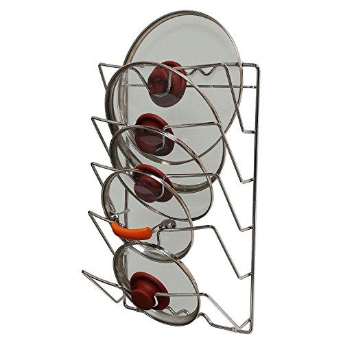 Taylor & Braun® Wand oder Tür montiert Küche Schrank Topf Topf Deckel Storage Rack Holder-nimmt 5Deckel - Wand Storage Rack